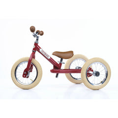 Trybike - Red Vintage Steel 2-In-1 Balance Bike & Trike