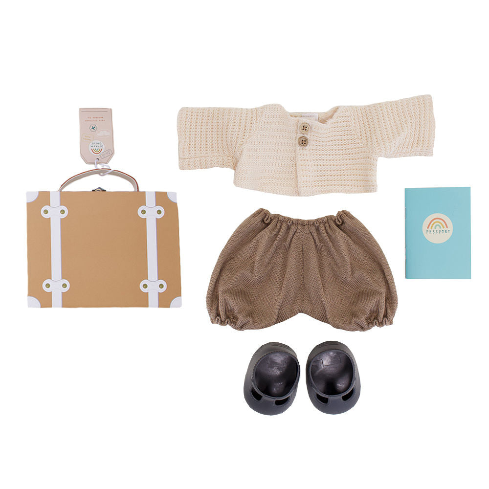 Olli Ella Dinkum Doll Travel Togs Set - Rust