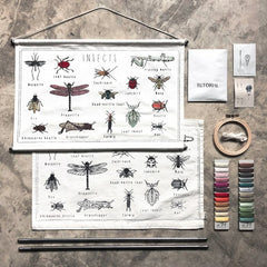 Numero 74 School Poster Embroidery Kit - Insects