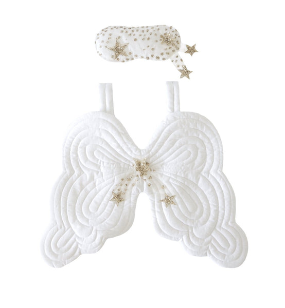 Bonne Mère Starry Nights Eyemask & Angel Wings - White