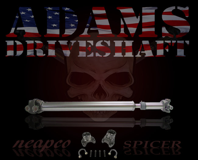 ADAMS DRIVESHAFT JK FRONT 1310 CV DRIVESHAFT SPICER SOLID with PINION YOKE [EXTREME DUTY SERIES]