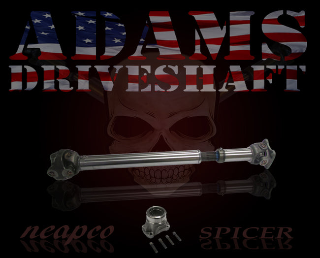ADAMS DRIVESHAFT JK FRONT 1310 CV DRIVESHAFT SPICER GREASABLE [HEAVY DUTY SERIES]