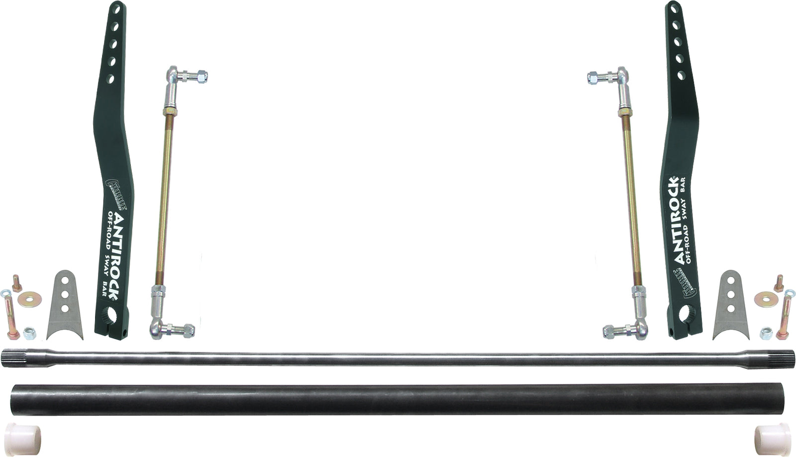 Antirock Sway Bar Kit Universal 36 Inch Bar 20 Inch Bent Steel Arms RockJock 4x4