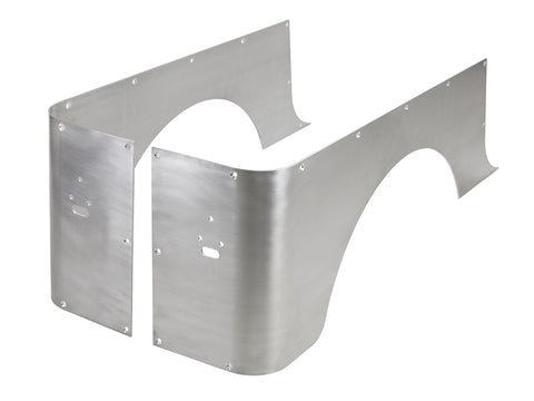 Jeep Corner Guard Blanks Set 04-06 Wrangler LJ Rear Aluminum Bare GenRight