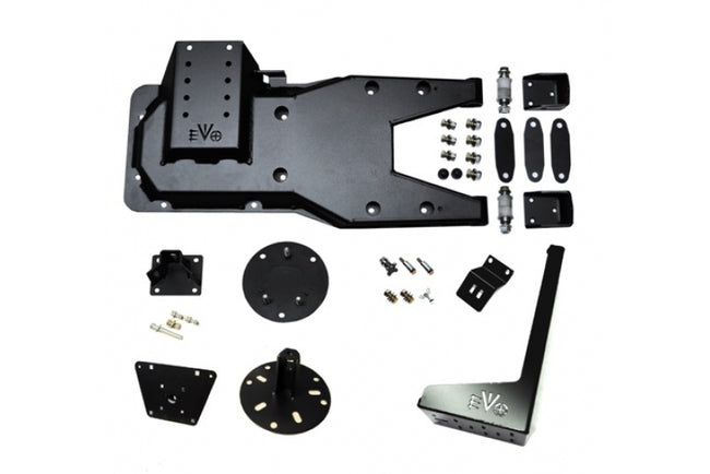 Jeep JK Hinged Gate Carrier With Jack And License/Rotopax Mount 07-18 Wrangler JK EVO Manufacturing