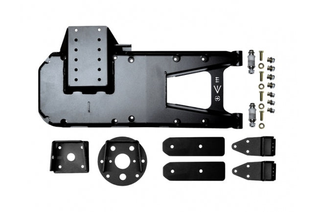 Jeep JL HD Hinge Tire Carrier 18-Present Wrangler JL Black Powdercoat EVO Manufacturing - HQ Offroad