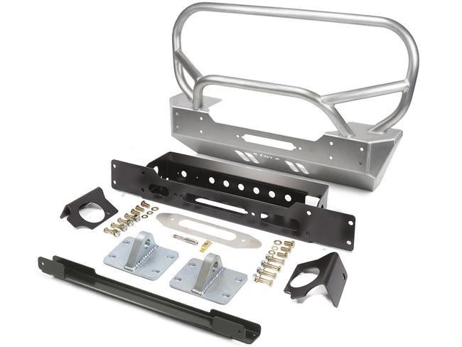 Jeep JL and JT  LoPro Winch Guard/Grill Guard Front Bumper Aluminum 2019-2020 Jeep Wrangler JL and 2020-Current Jeep Gladiator JT GenRight