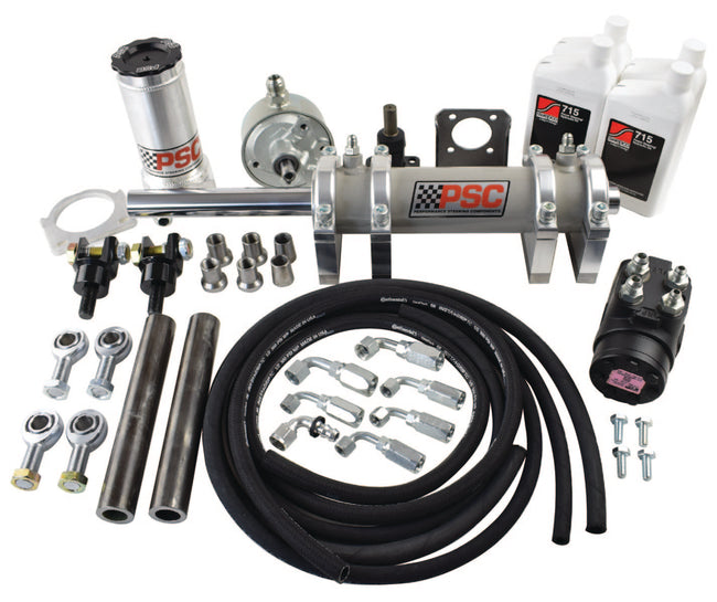 Full Hydraulic Steering Kit, 2.5 Ton Rockwell Axle (46 Inch and Larger Tire Size) PSC Performance Steering Components