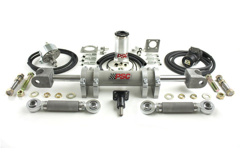 "Jeep TJ Wrangler Full Hydraulic Steering Kit with 2.5"" bore 8"" Stroke Single Ended Steering Cylinder"