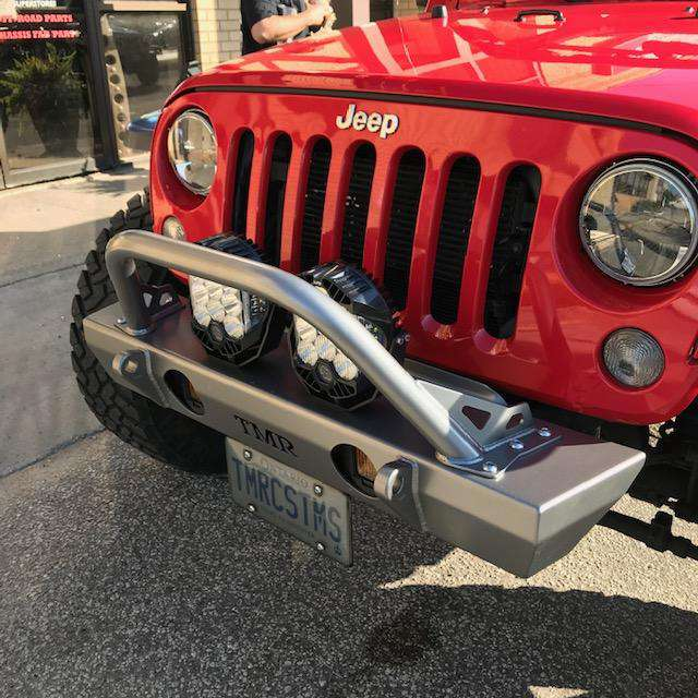Jeep Wrangler JK Front Bumper with Flat Tube - HQ Offroad