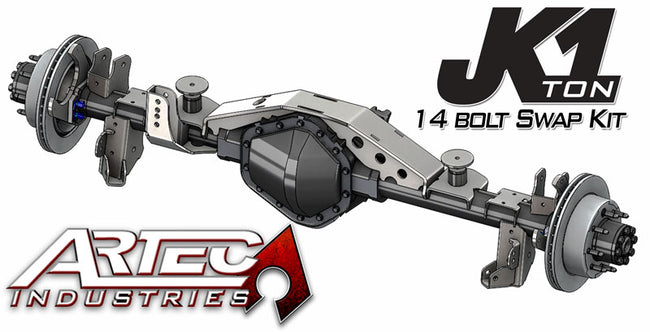 JK 1 Ton Rear 14 Bolt Swap Kit Artec Industries