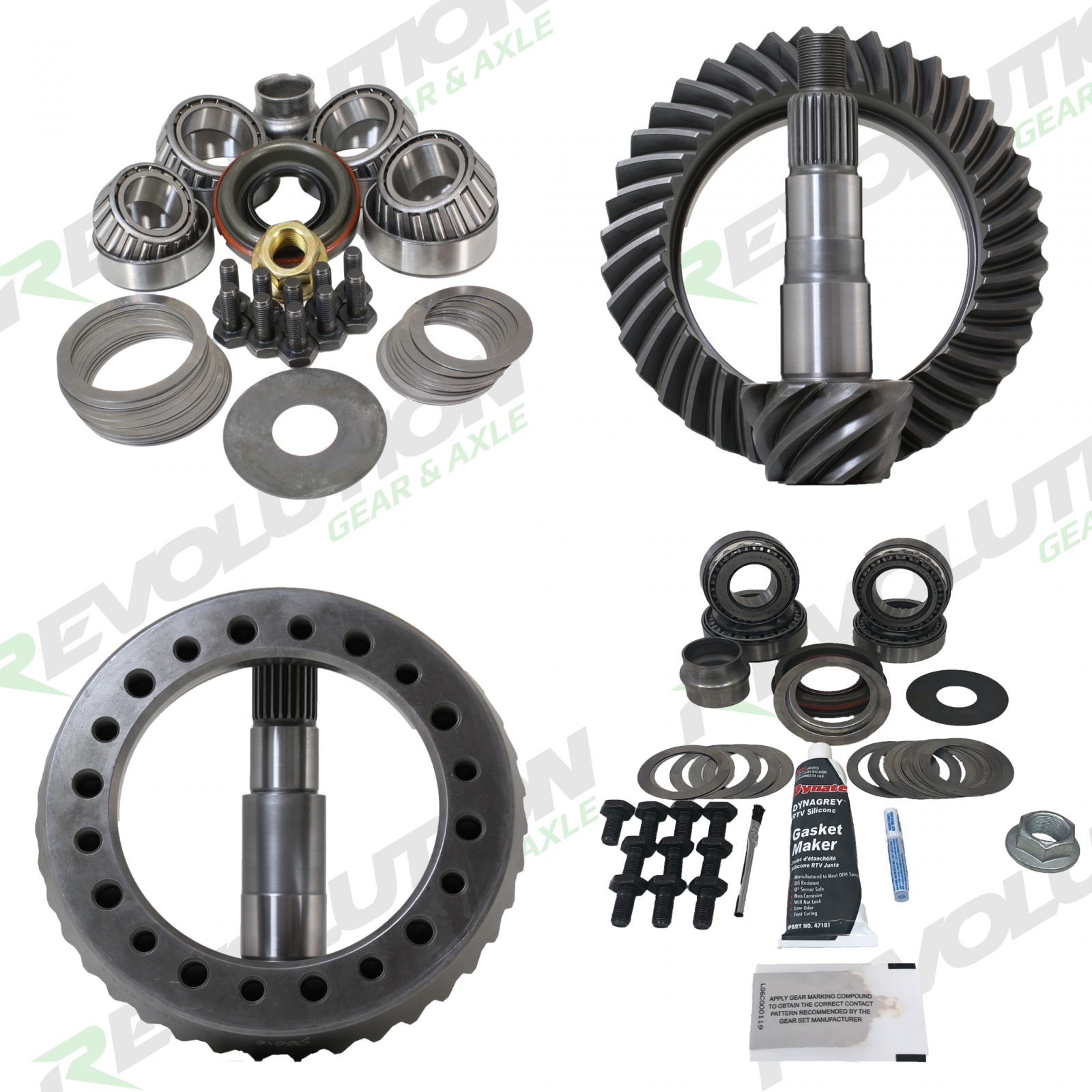 5.13 Ratio Gear Package (GM 10.5 14-Bolt Thick 89-98 - D60 Std Rotation) with Koyo Master Kits Revolution Gear and Axle - HQ Offroad