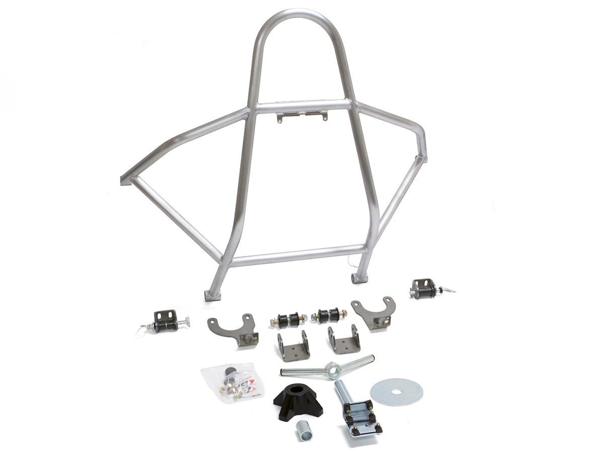 Jeep Rear Tire Carrier Swing Down Boulder Series 87-95 Wrangler YJ Aluminum Bare Kit GenRight - HQ Offroad