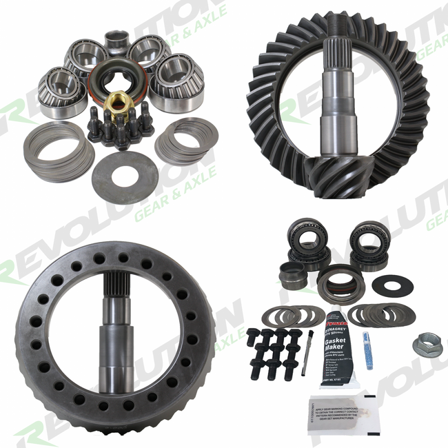2014 and Newer Chevy 1500 5.3L (GM9.5L-GM8.25R) 4.56 Ratio Gear Package (Factory 3.21 or lower will need carrier or spacer) Revolution Gear and Axle - HQ Offroad