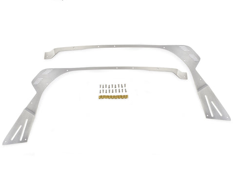 Jeep Windshield Frame Armor 07-Pres Wrangler JK, JKU Front Steel Bare Pair GenRight