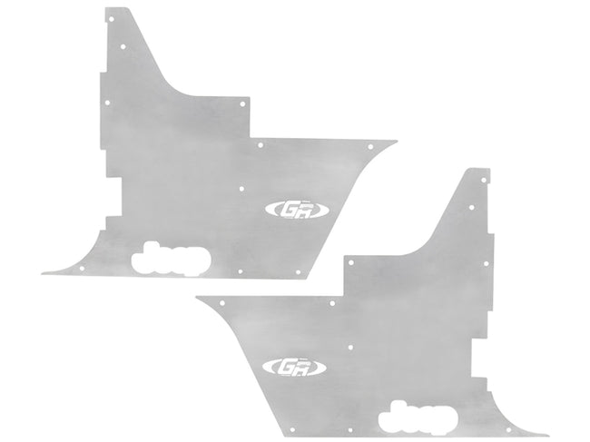 Jeep Tub Panel Guards Flak-Jacket Pair 97-06 Wrangler TJ, LJ Aluminum Bare GenRight