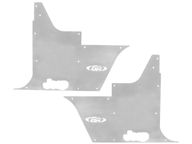 Jeep Tub Panel Guards Flack-Jacket w/Out Hinge Cutouts Pair 97-06 Wrangler TJ, LJ Aluminum Bare  GenRight