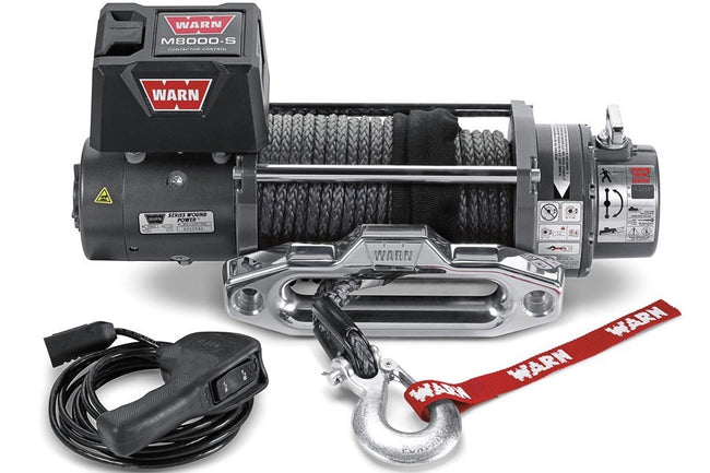 M8000-S Winch with Syhthetic Rope 8000# - HQ Offroad