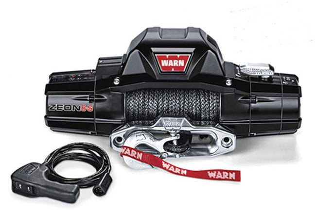 Zeon 8-S 8000lb Winch w/Synthenic Rope - HQ Offroad