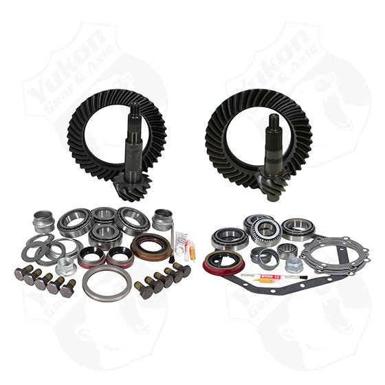 Yukon Gear And Install Kit Package For Standard Rotation Dana 60 And 89-98 GM 14T 4.56 Yukon Gear & Axle