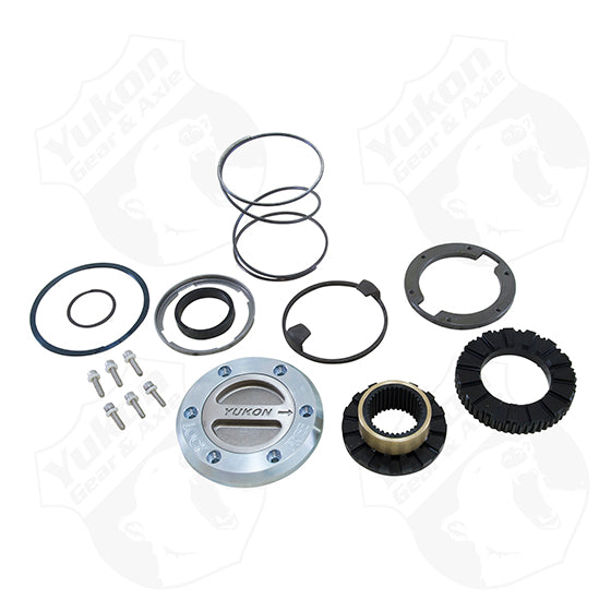 Yukon Hardcore Locking Hub Set For 00-08 Dodge 1-Ton Front With Spin Free Kit 1 Side Only Yukon Gear & Axle