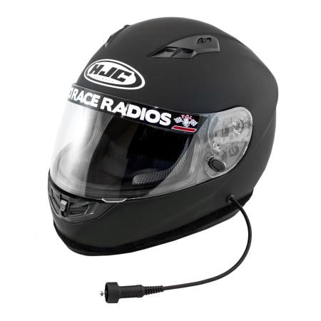 PCI Race Radios HJC CS-R3 Wired Helmet Full Face, Black L - 2423