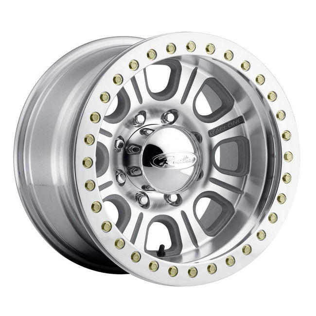 Raceline RT233-AL Monster Premium Aluminum 8 Lug Beadlock Wheel with Aluminum Ring