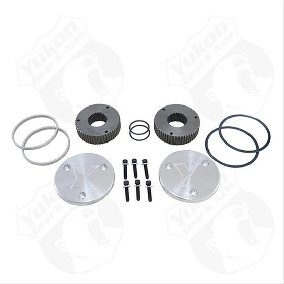 Yukon Hardcore Drive Flange Kit For Dana 60, 35 Spline Outer Stubs. Yukon Engraved Caps.