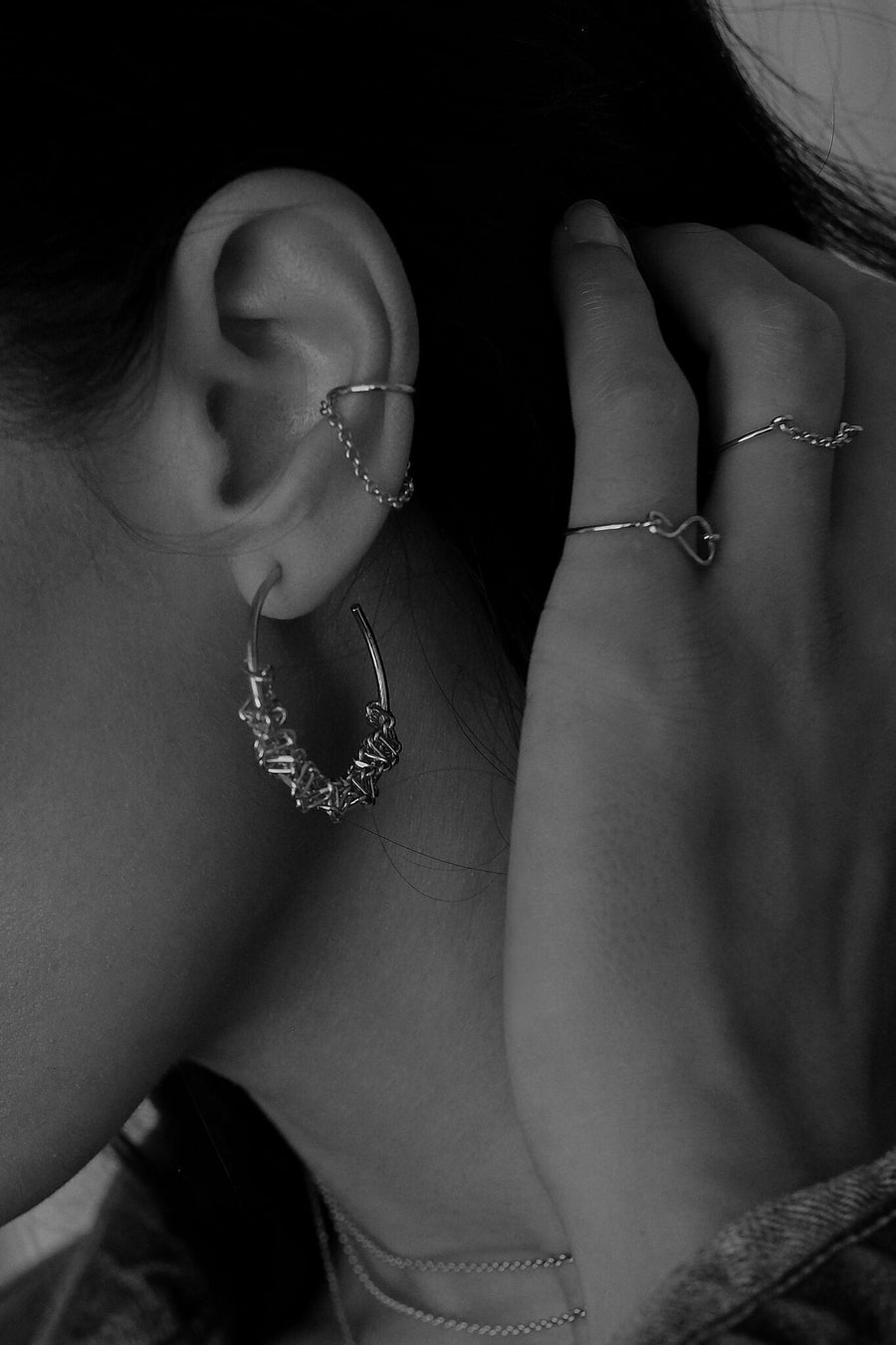 Kate Chain Earcuff | Silver