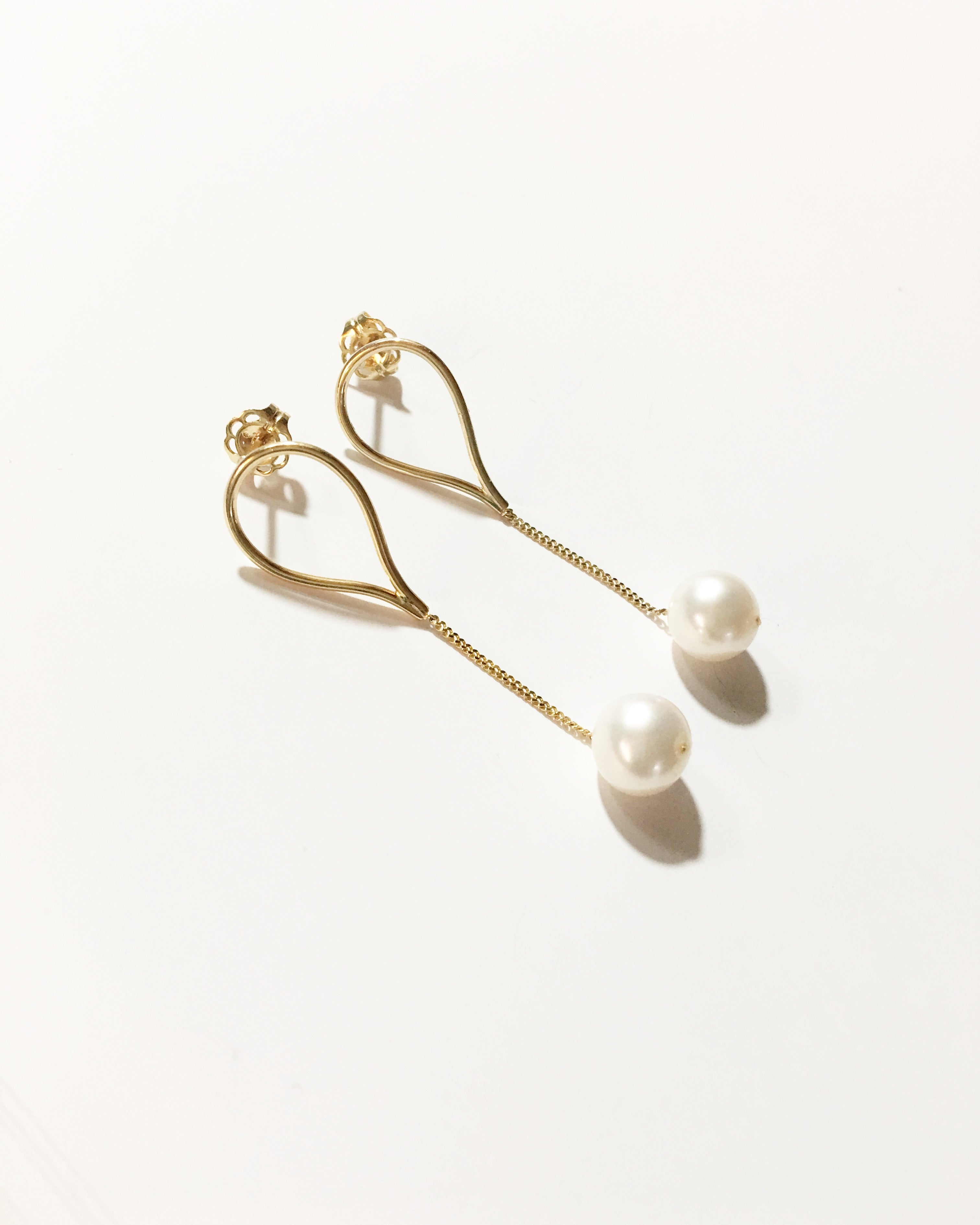 Mini Aqua Earrings | 9K Yellow Gold