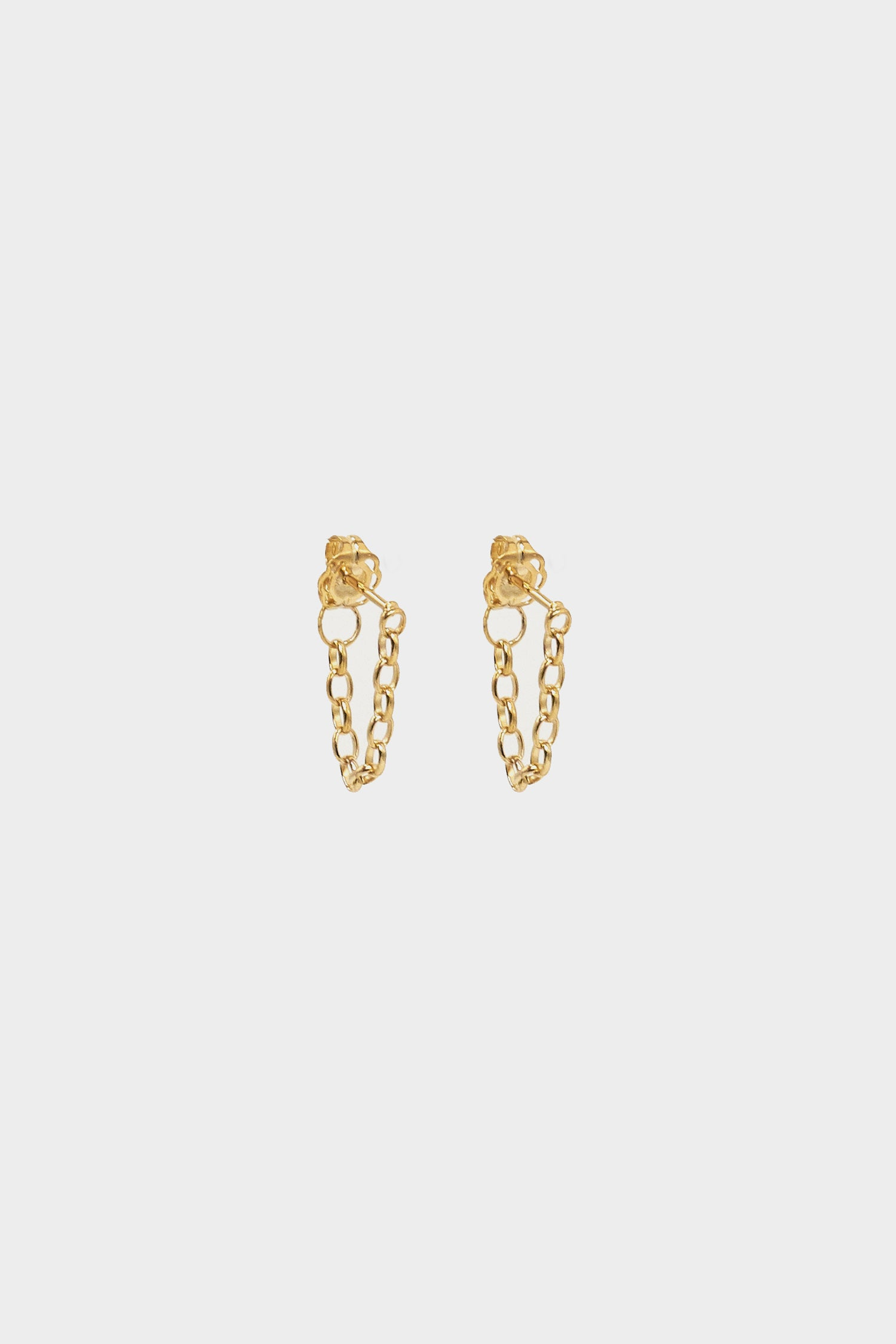 Chain Earrings | 9K Yellow Gold