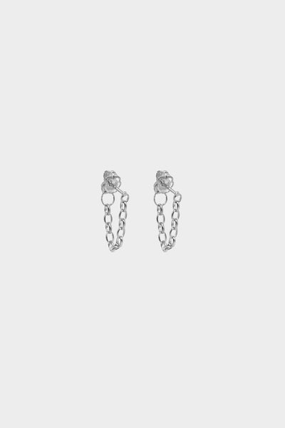 Chain Earrings | Silver