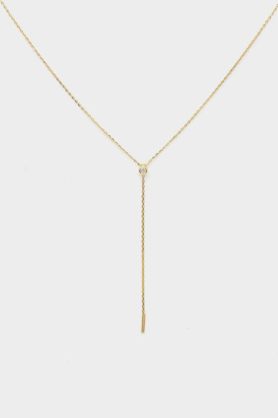 Diamond Lariat | 9K Yellow Gold
