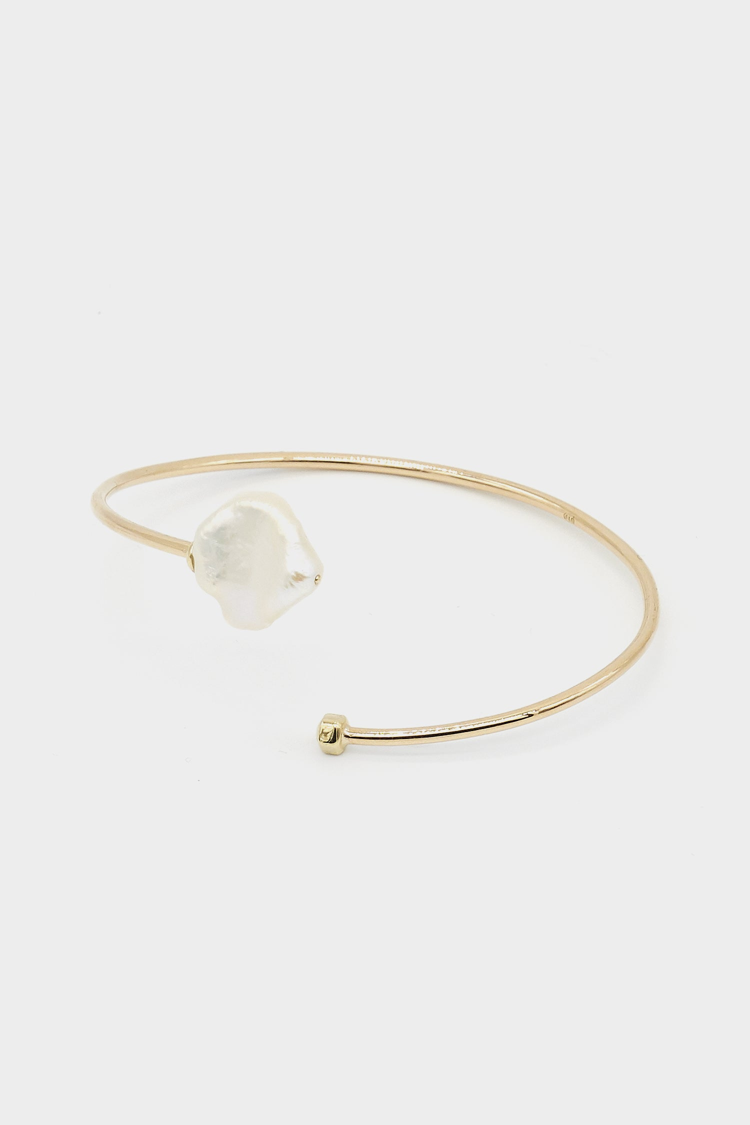 Keshi Pearl Bangle | 9K Yellow Gold
