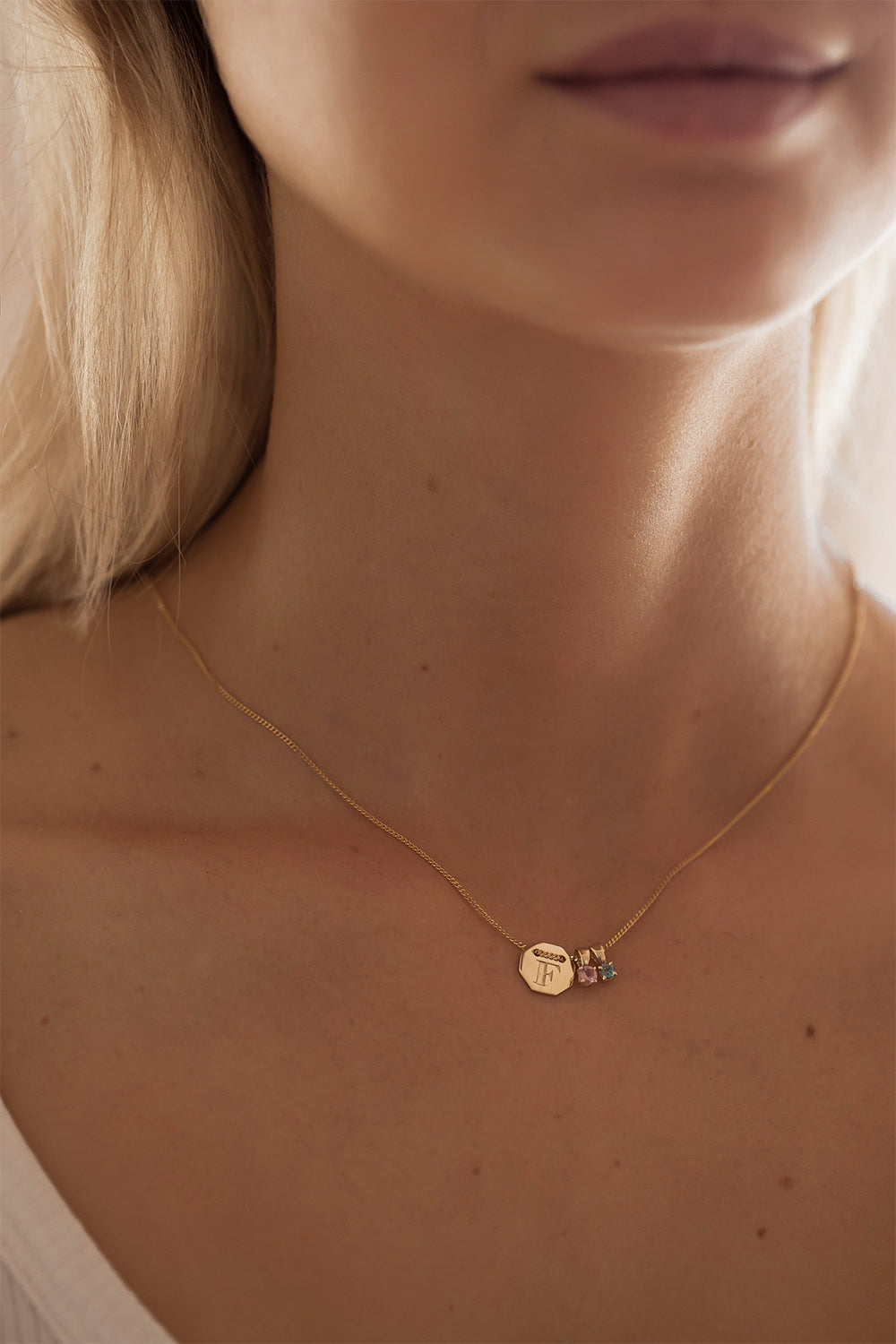 Birthstone Necklaces | 9K Yellow Gold
