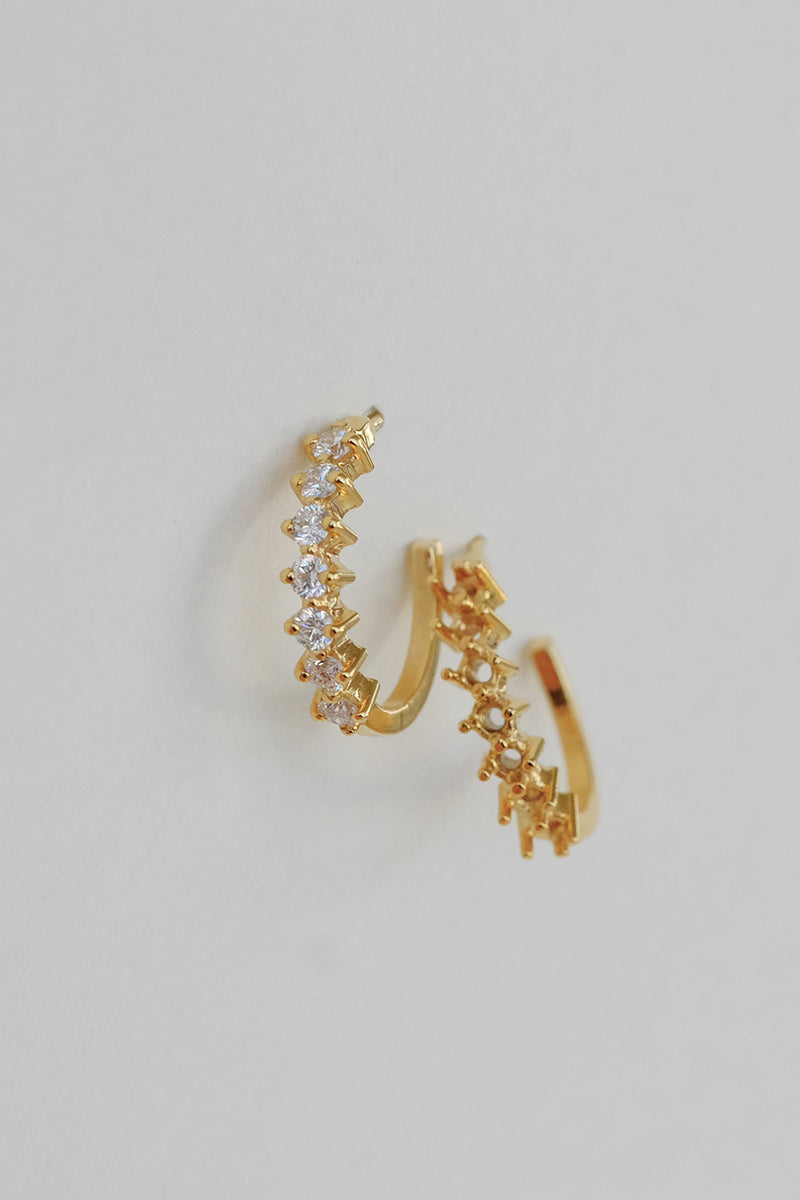 Buttercup Diamond Hoops | 14K Yellow Gold