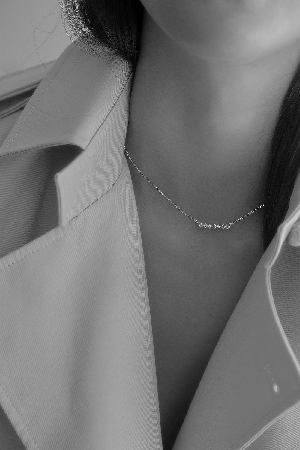Buttercup Diamond Necklace | 18K White Gold