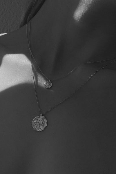 Mini Coin Necklace | Silver
