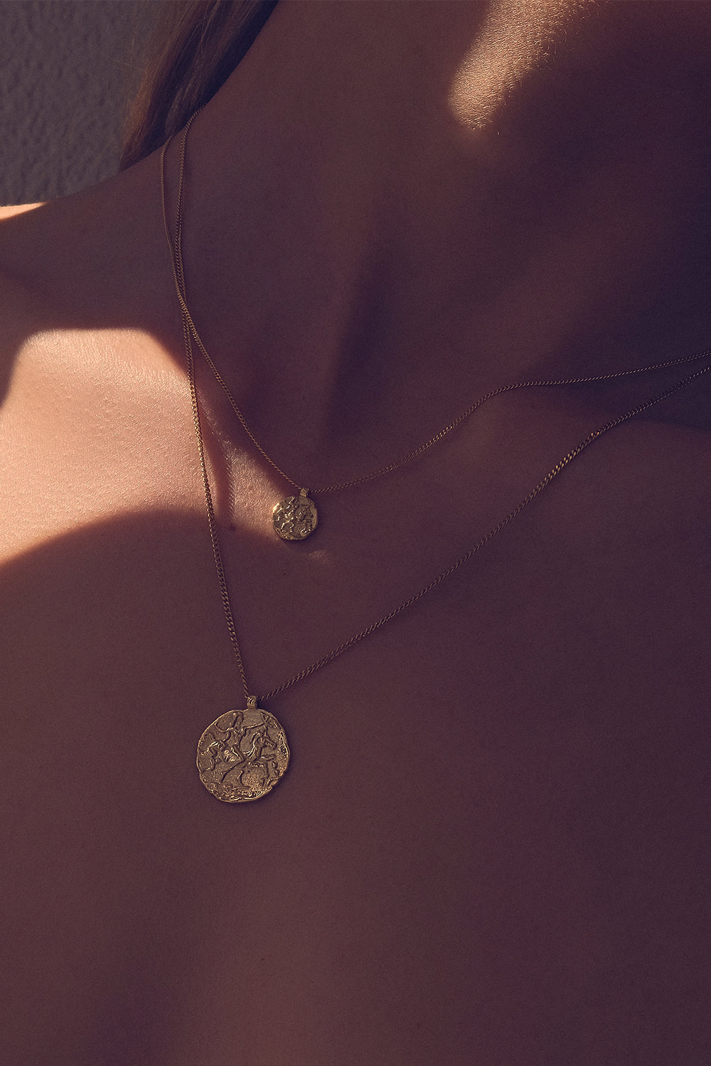 Mini Coin Necklace | 9K Yellow Gold