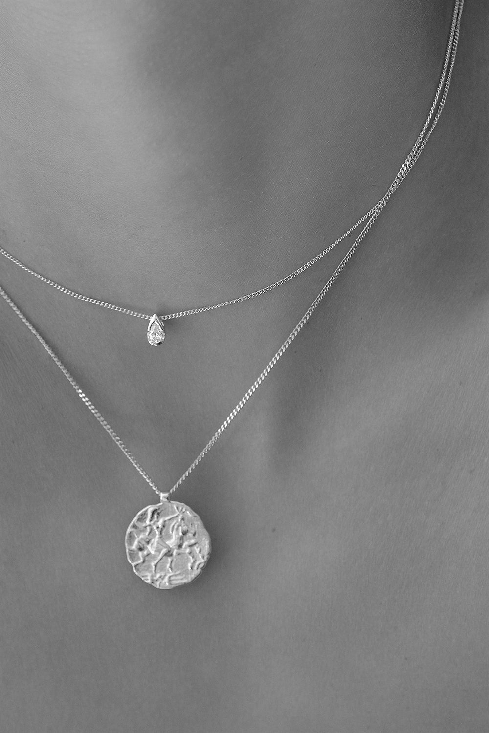 Coin Necklace | Silver
