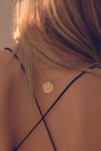 Coin Necklace | 9K Yellow Gold
