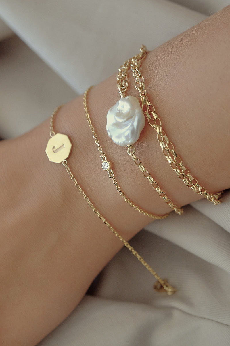 Diamond Bracelet | 9K Yellow Gold