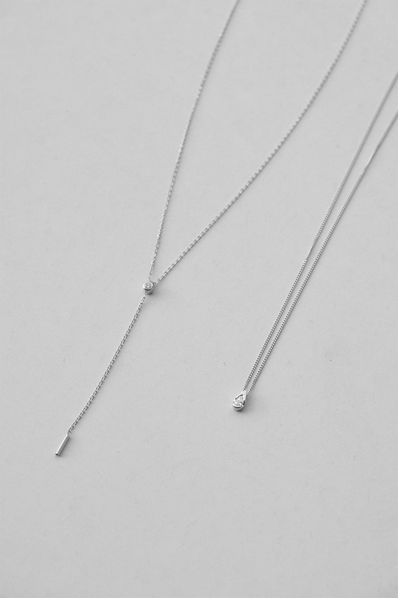 Diamond Lariat | 9K White Gold