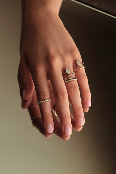 Diamond Baguette Ring | Yellow Gold
