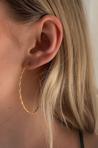 Helix Earrings Large | Gold
