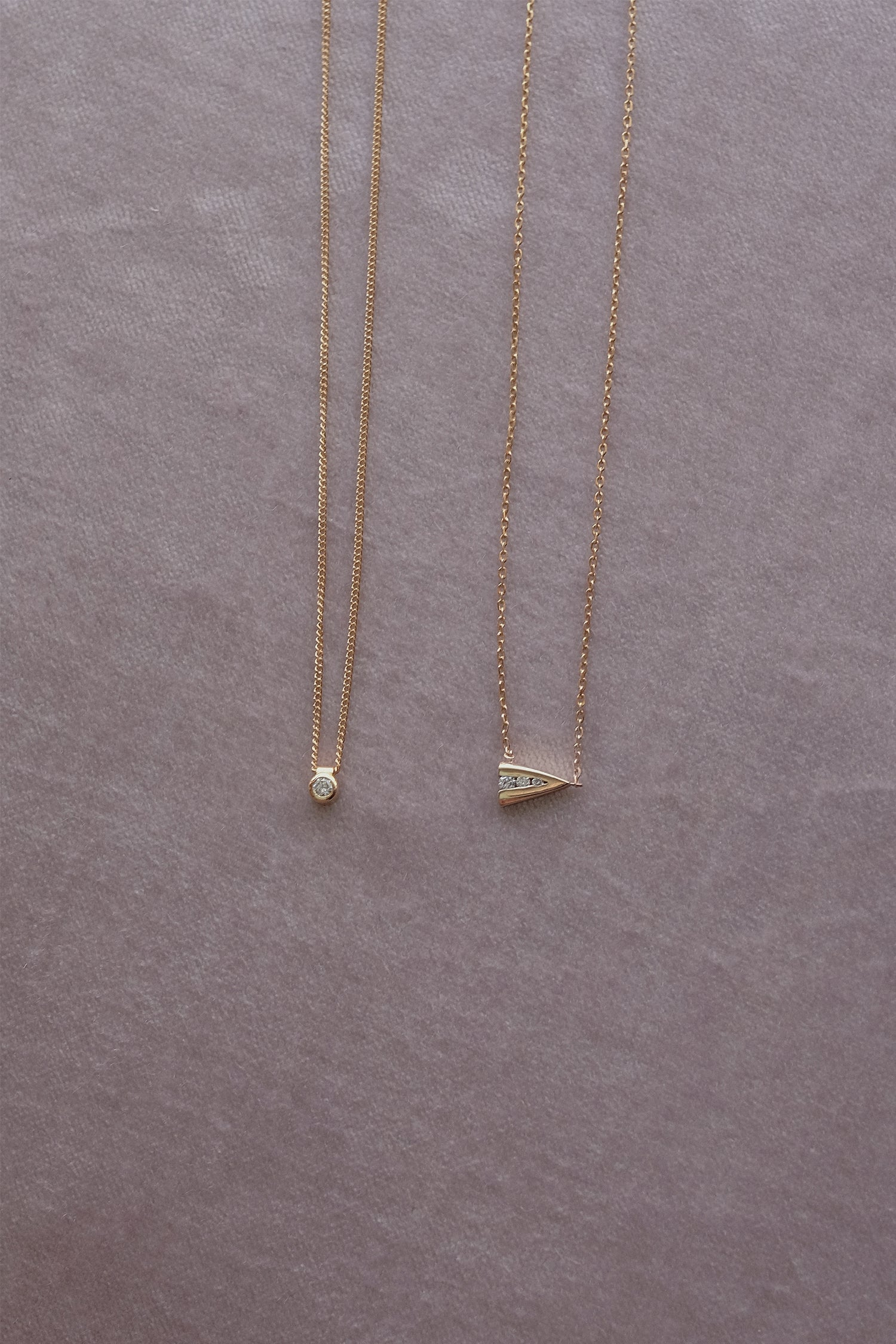 Mini Diamond Necklace | 9K Yellow Gold