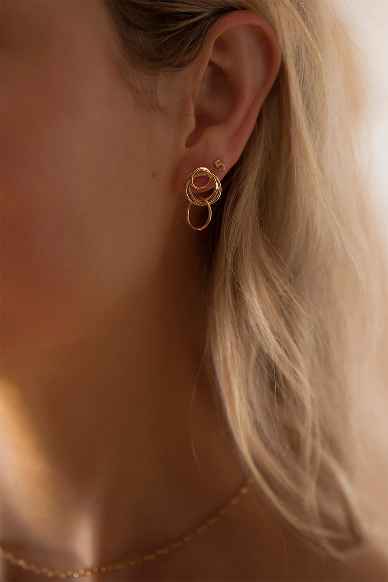 Mini Stevie Earrings | 9K Yellow Gold