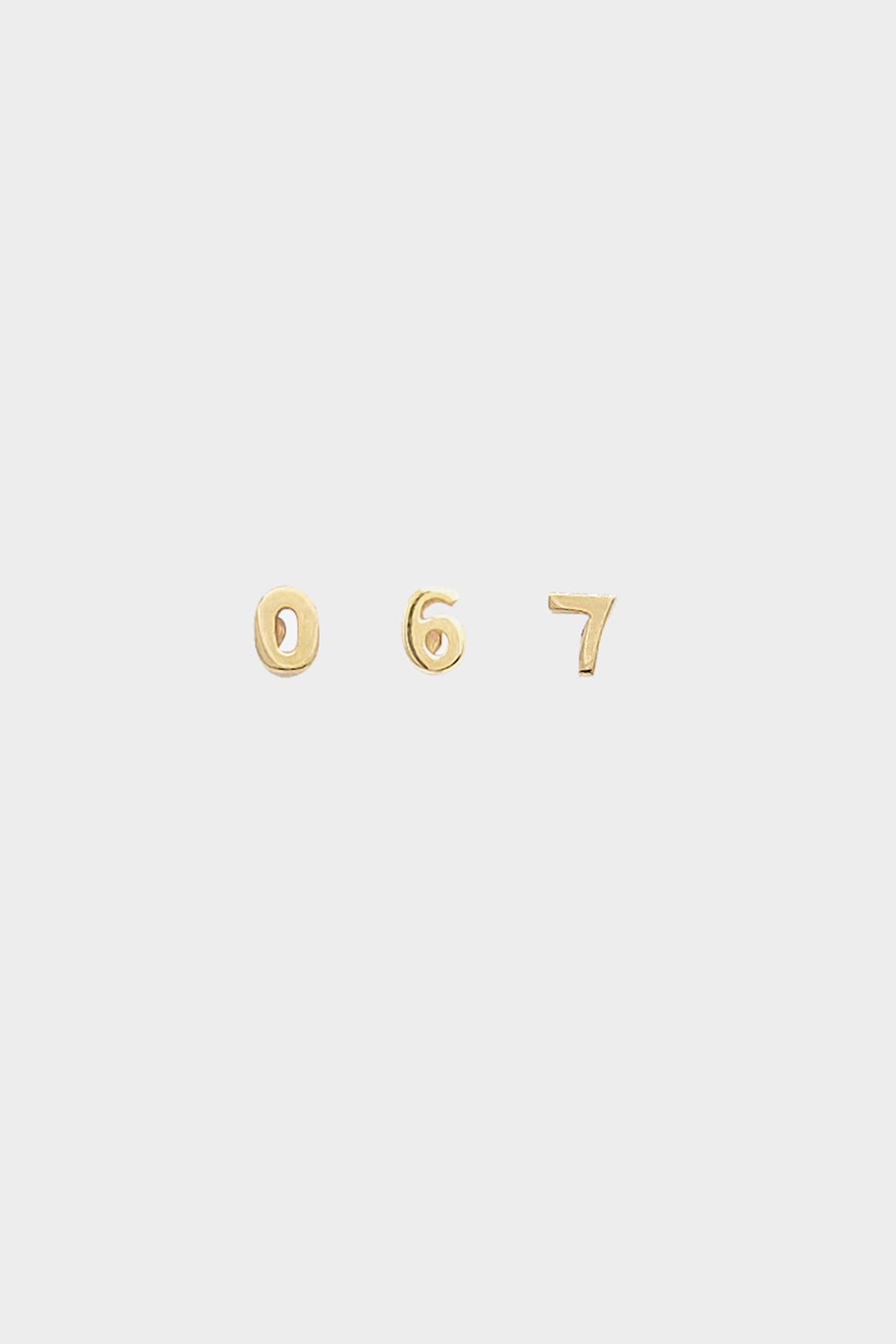 Number Earring | 9K Yellow Gold