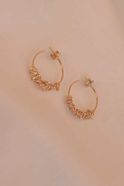 Rachael Hoops | Gold Plated