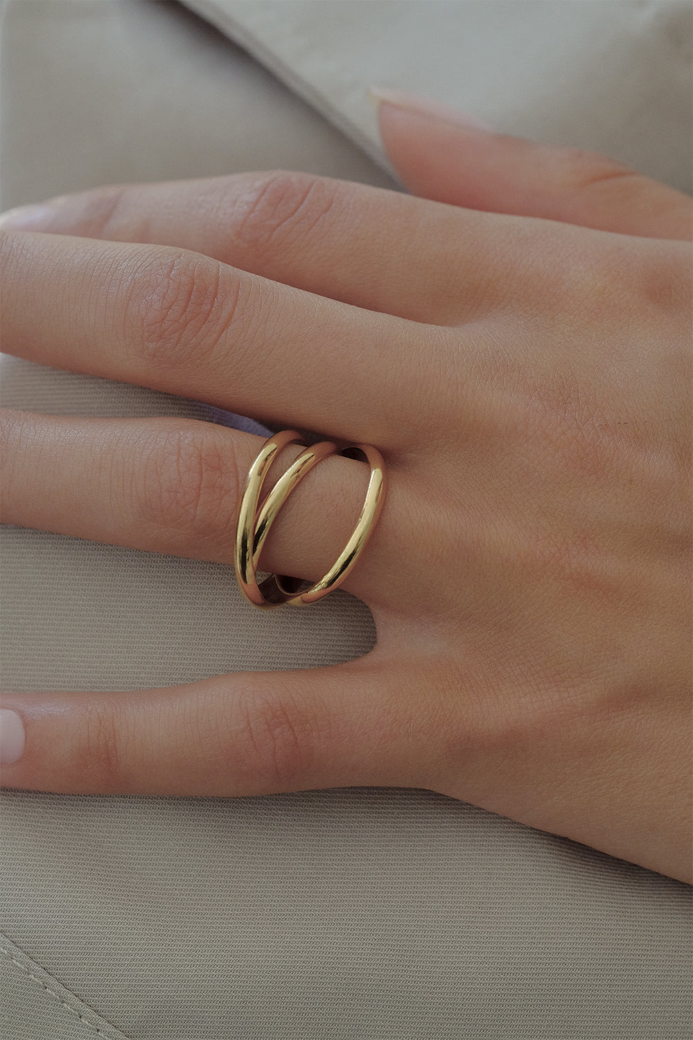 Sascha Triple Band Ring | 9K Yellow Gold